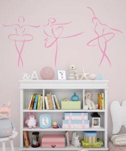 Vinilo Decorativo Para Cuarto De Niñas Bailarina
