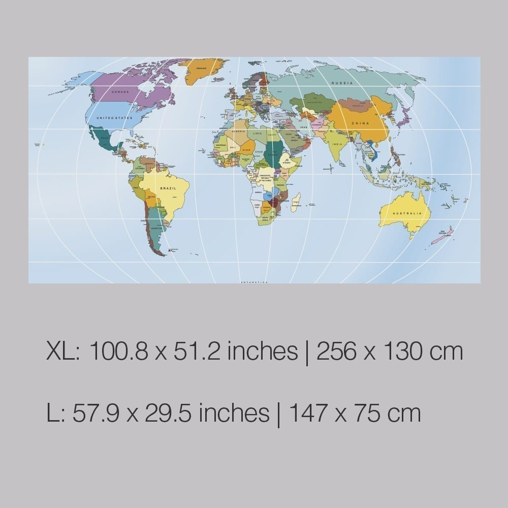 Vinilo decorativo mapa mundo rectangular rectangular world map sticker dimensions gumiabroncs Choice Image