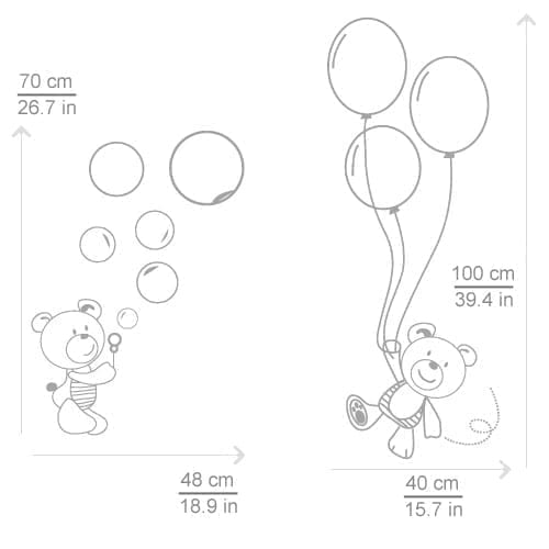 Bears and Ballons Stickers