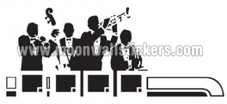 Band Jazz Sticker