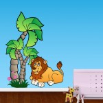 Jungle Lion Sticker
