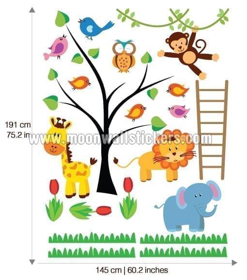 Inicio 187 vinilos infantiles 187 decoraci 243 n para beb 233 s animales de la