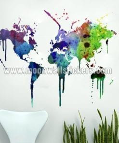 Map Of The World Decal.World Map Stickers