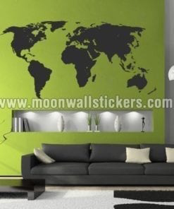 Silhouette World Map Sticker
