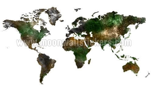 Satellite World Map Sticker