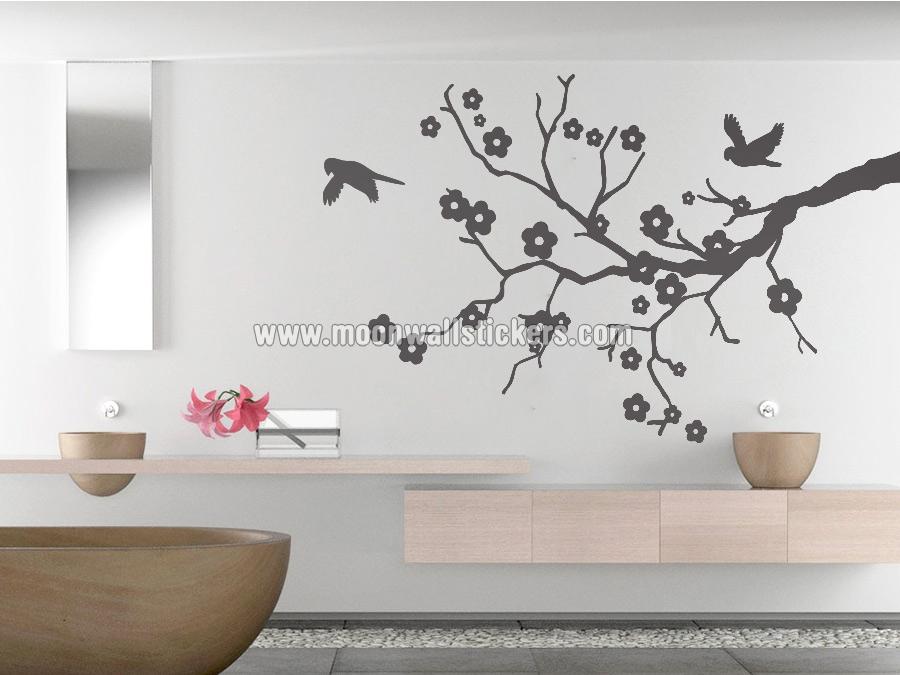 Vinilo decorativo flor de cerezo pared for Vinilo decorativo ikea