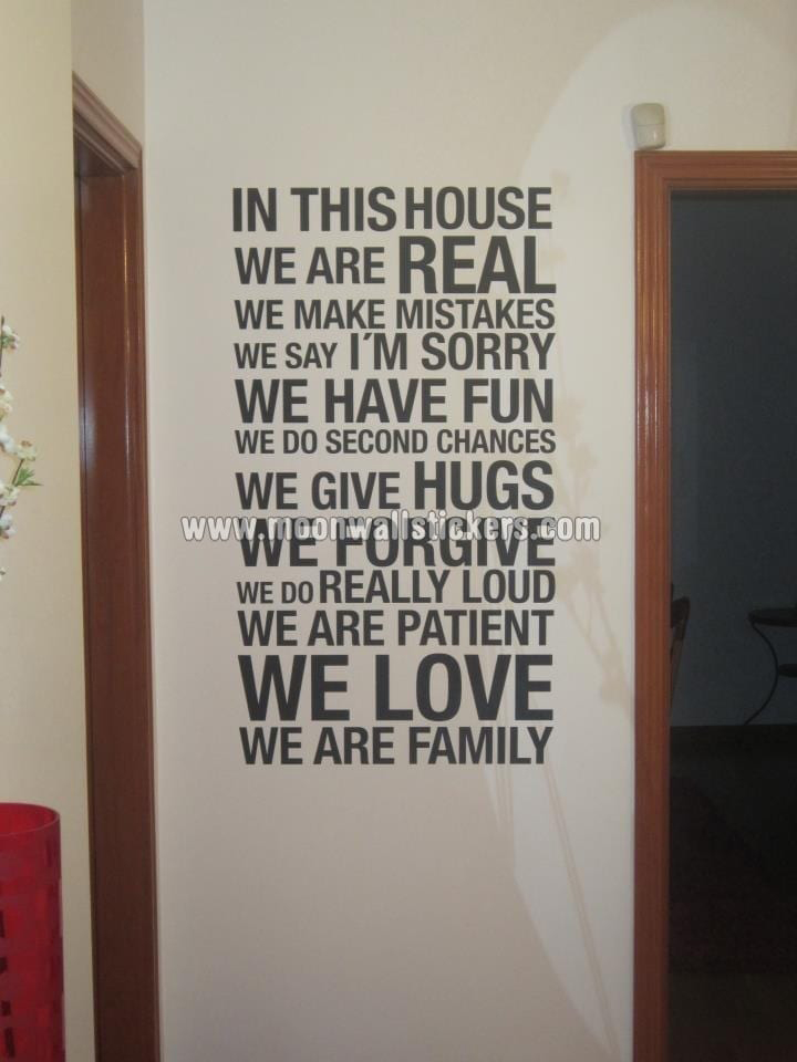 In This House We Are Real Wall Decal Part 29