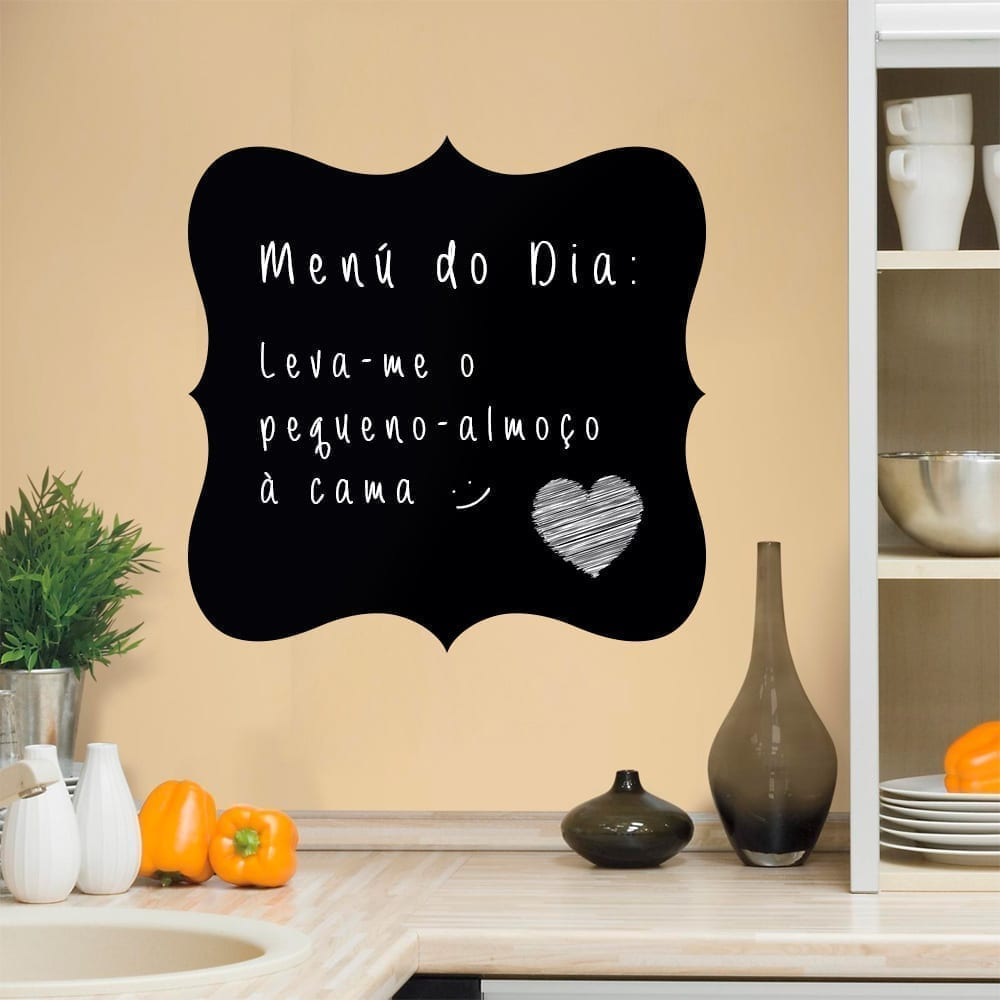 Menu Chalkboard Sticker - Moonwallstickers.com