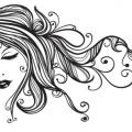Elegant Girl Sticker