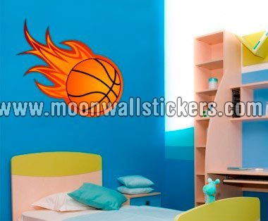 basketball-on-fire-wall-decor
