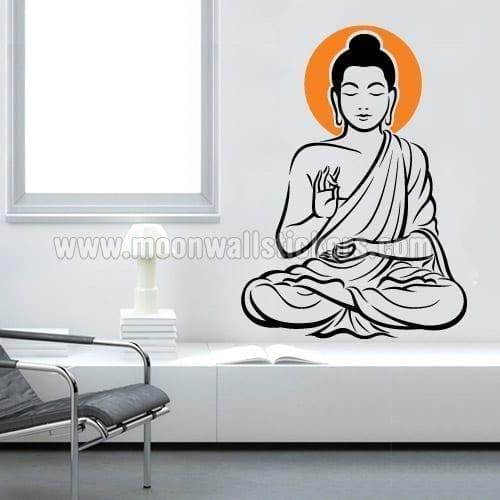 Zen Buddha Sticker Moonwallstickerscom - Zen wall decals