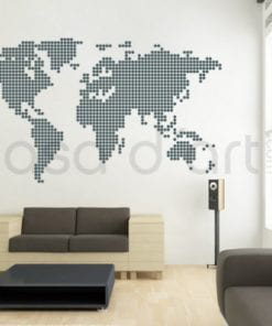 World Map Dot Sticker