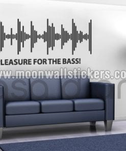 Pleasure For The Bass Sticker