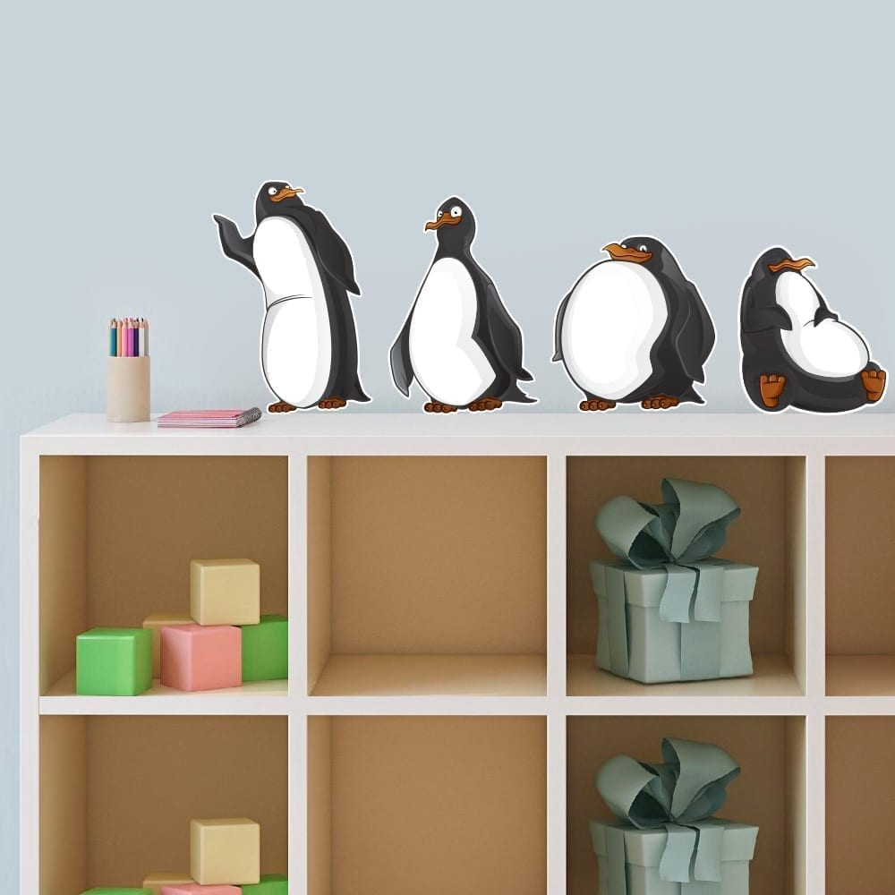 pinguin stickers moonwallstickers com online buy wholesale penguin wall decal from china penguin