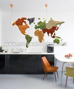 World Map Spicy Sticker