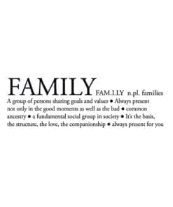 Family Definition Sticker - 1