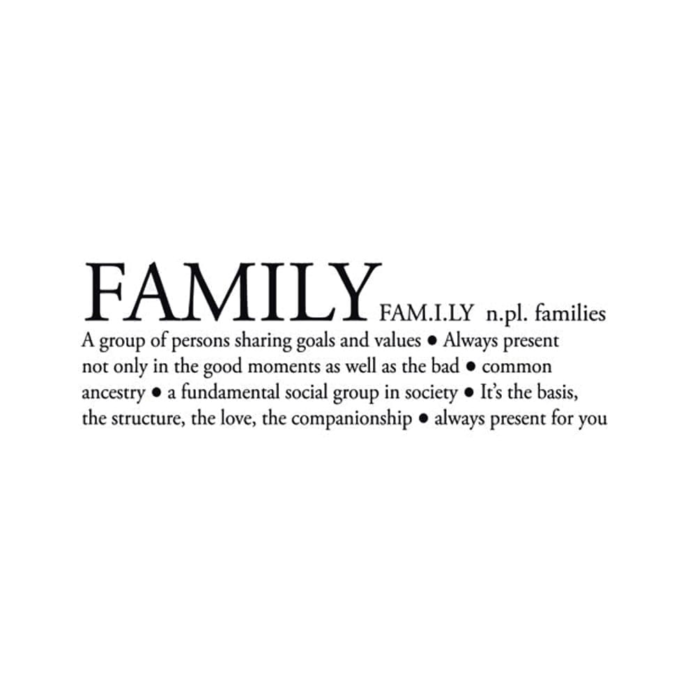 Meaning Of Family Quotes: Family Definition Sticker