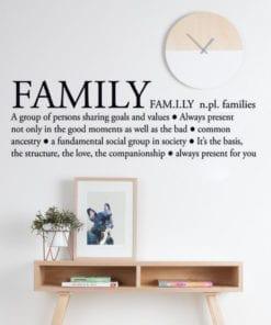 Family Definition Sticker