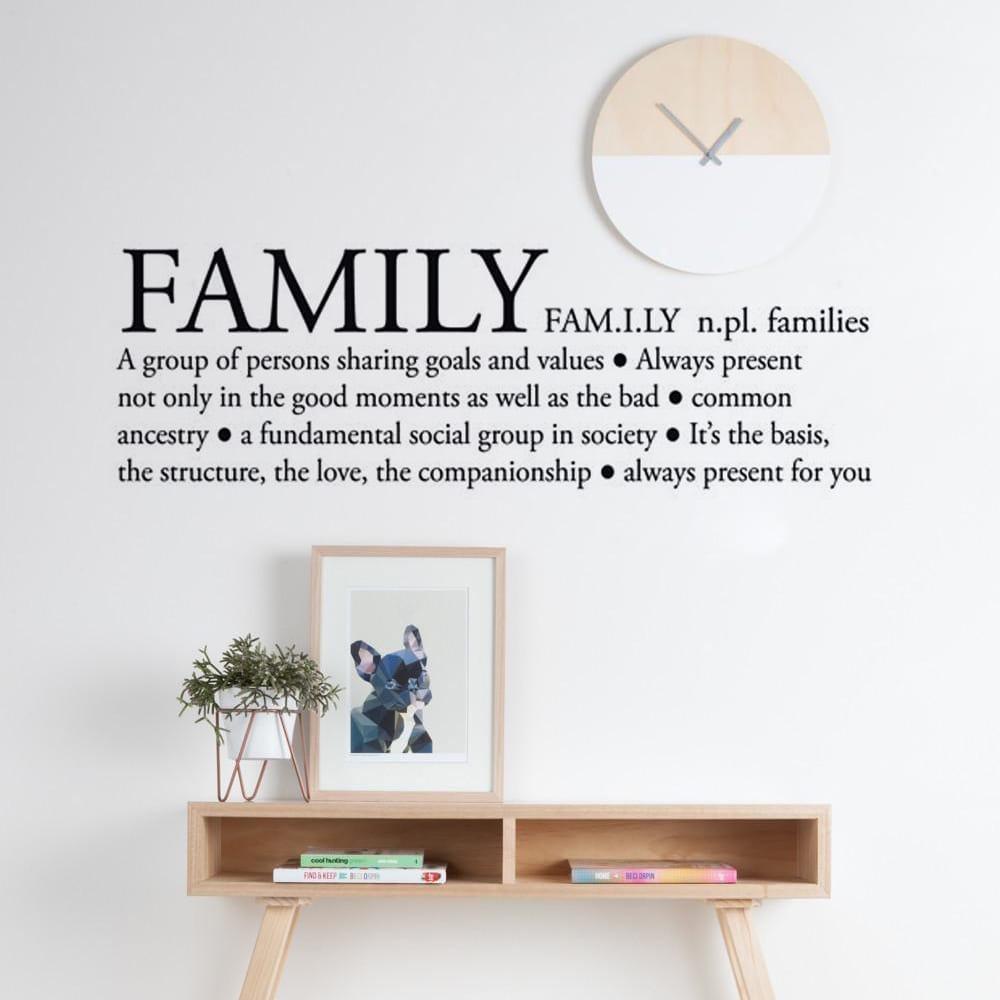 autocollant de d finition de la famille
