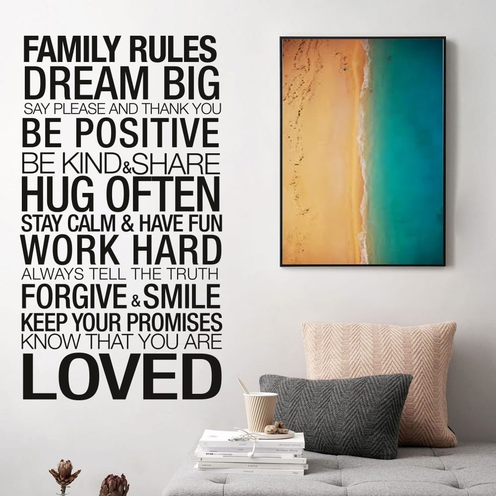 Family Rules Sticker