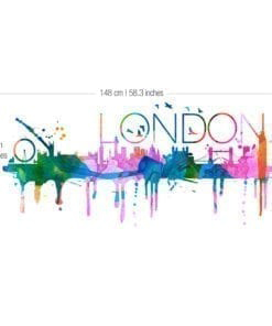 London Skyline Watercolor - Dimensions