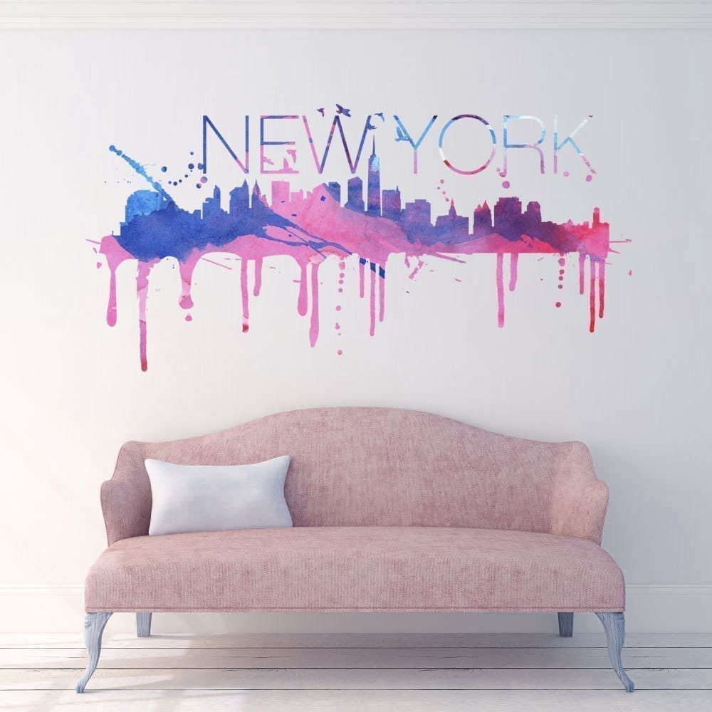 Eitelkeit New York Wandtattoo Das Beste Von Skyline Watercolor