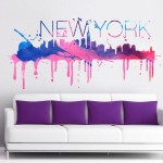 New York watercolor skyline 2