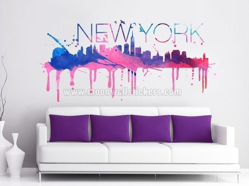 New York Skyline Watercolor Part 39