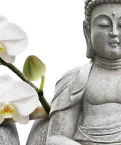 Buddha Statue Sitting Sticker - Detail