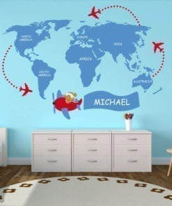 Wall stickers and tile stickers moonwallstickers kids world map sticker gumiabroncs Choice Image