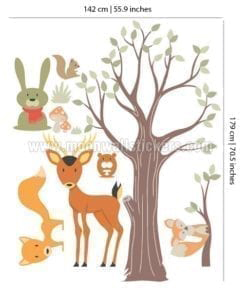 Wood Animals Stickers 2