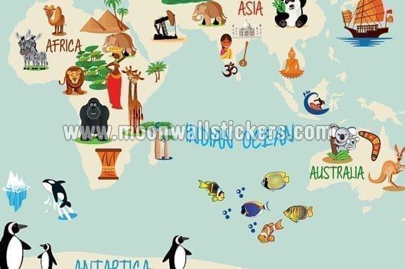 World map kids - Stickers bambini ikea ...