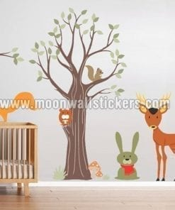 Wood Animals Stickers