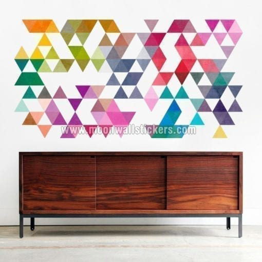 Colored Triangles Wall Decal
