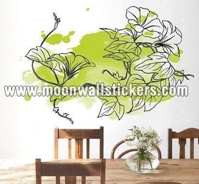 Floral Green Watercolor Sticker