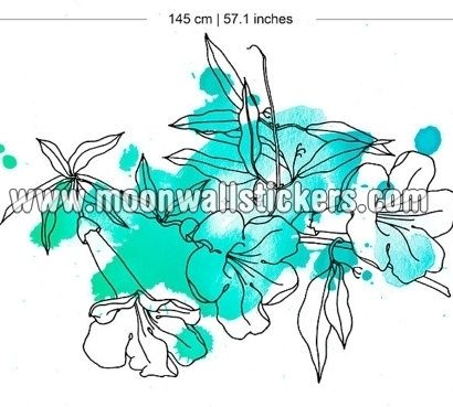 Floral Marine Watercolor Sticker