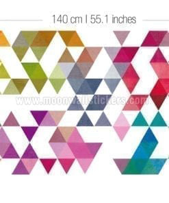Colored Triangles Wall Decal Dimensions