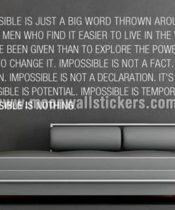 impossible is nothing sticker