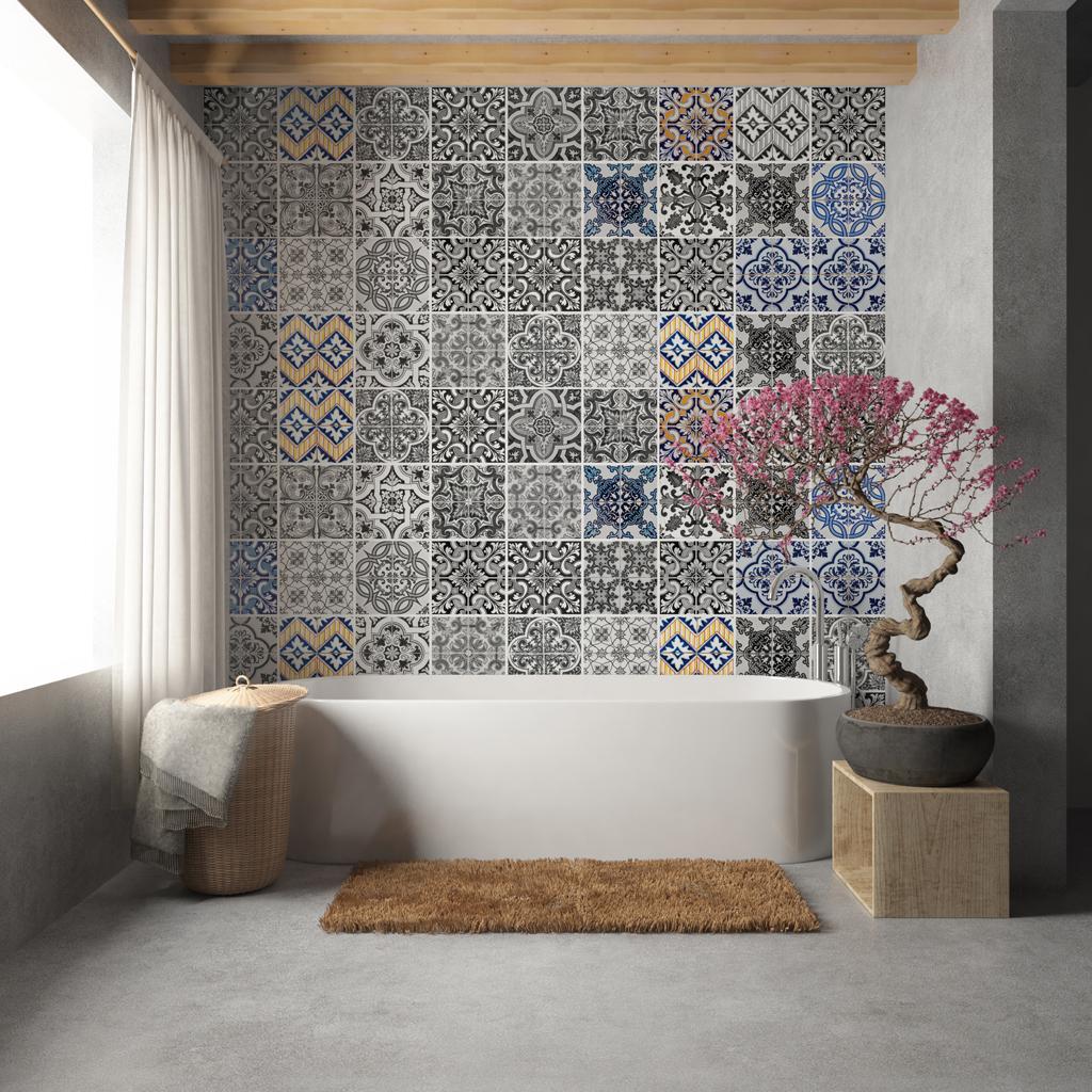 Adhesivo azulejo patrones - Adhesivo para azulejos ...