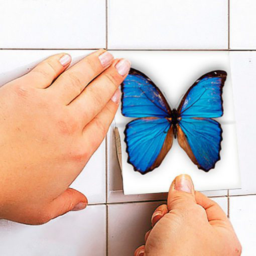 Butterfly Tiles Stickers - Apply