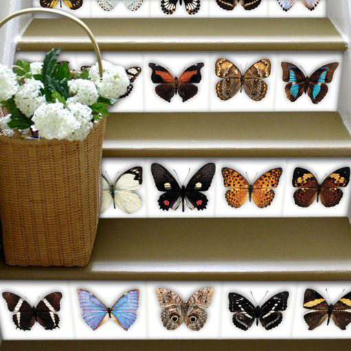 Butterfly Tiles Stickers - Stairs