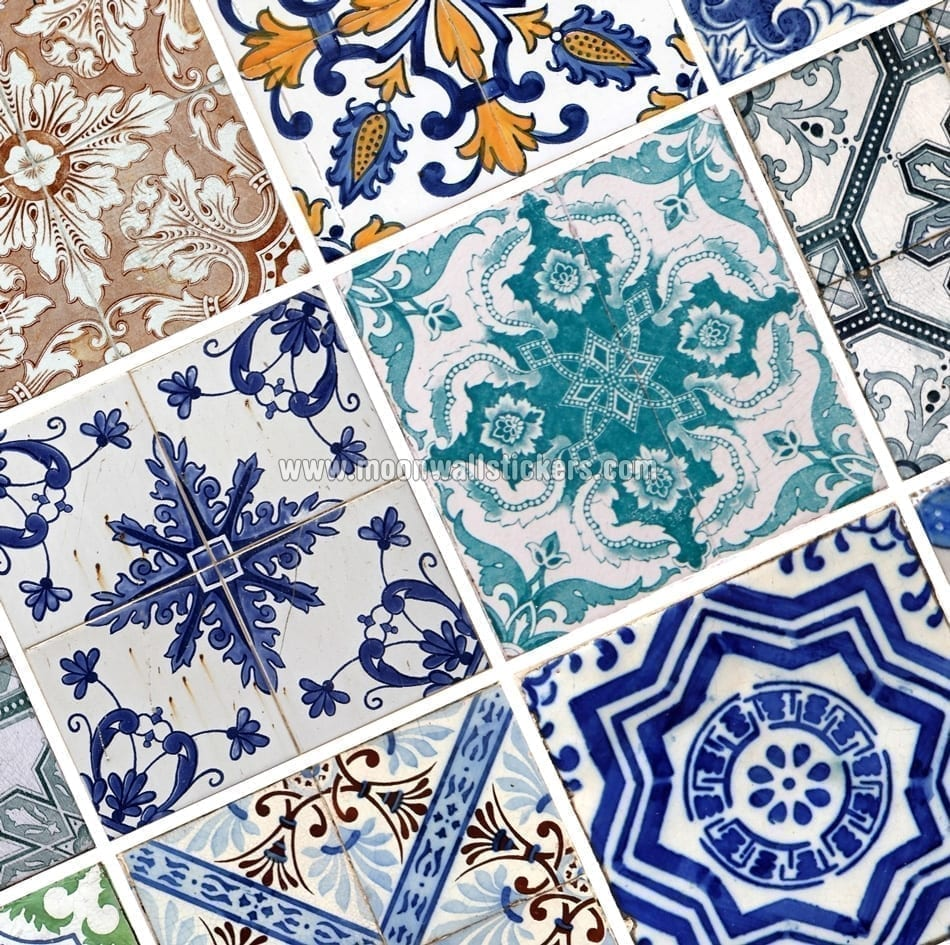 Hydraulic tiles stickers for Carrelage retro