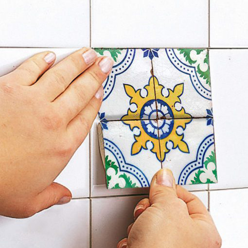 Hydraulic Tiles Stickers - Apply