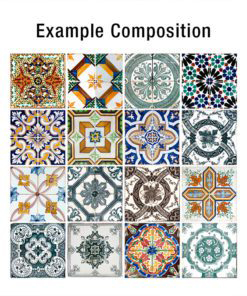 Portuguese Tiles Azulejos - Composition