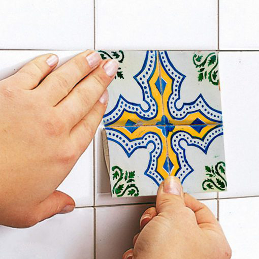Portuguese Tiles Azulejos Stickers - Apply
