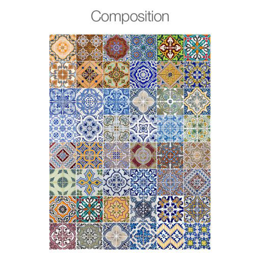 Portuguese Tiles Azulejos Stickers - Composition