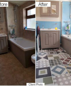 Sintra Tiles Stickers - Before & After