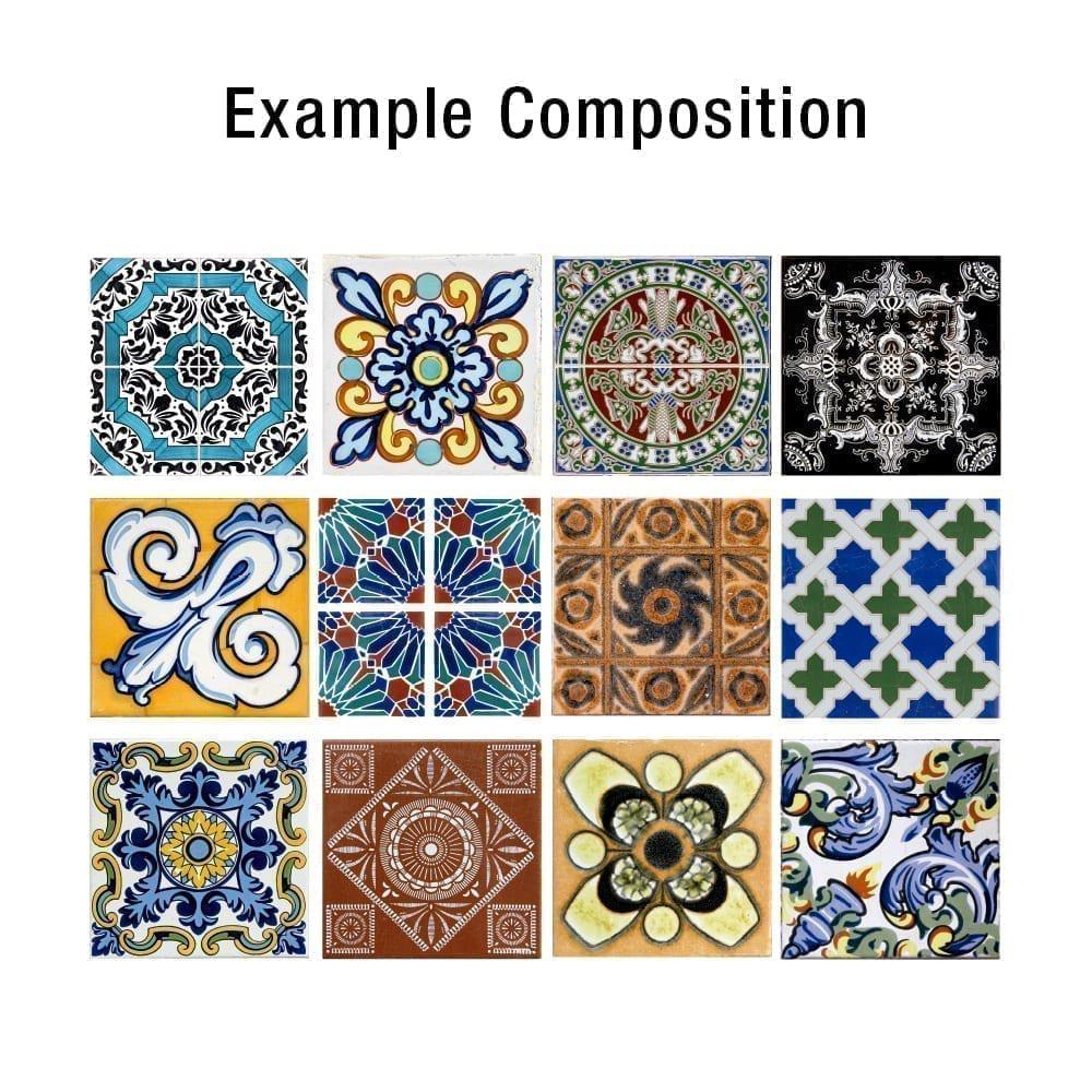 Talavera tiles decals for Stickers para azulejos cocina