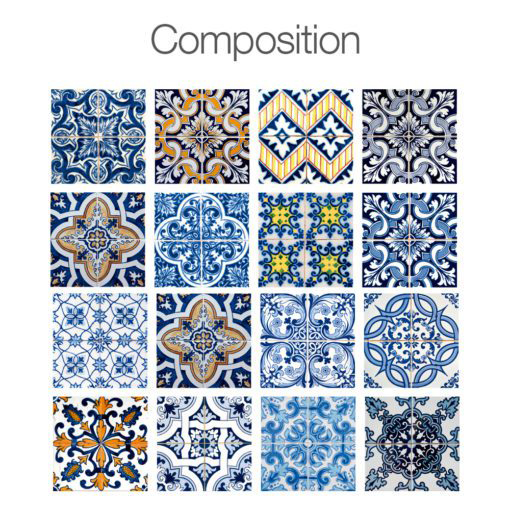 Tiles for Bathroom or Tiles for Kitchen - Composition