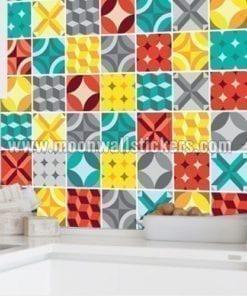 Geometric Tiles Stickers
